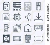 simple set of  16 outline icons ...   Shutterstock . vector #1195120060