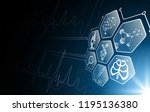abstract background technology... | Shutterstock .eps vector #1195136380