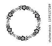 floral monogram paper cut out... | Shutterstock .eps vector #1195137289