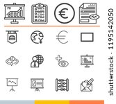simple collection of business... | Shutterstock . vector #1195142050