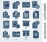 simple set of 16 icons related... | Shutterstock . vector #1195148683