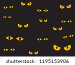vector illustration spooky eyes ... | Shutterstock .eps vector #1195153906