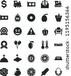 solid black flat icon set... | Shutterstock .eps vector #1195156366