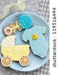 baby shower cookies | Shutterstock . vector #119516494