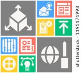 simple set of  10 filled icons... | Shutterstock .eps vector #1195171993