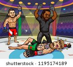 ufc 229  khabib vs. mcgregor is ... | Shutterstock .eps vector #1195174189