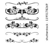decorative monograms and... | Shutterstock .eps vector #1195178269