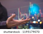 showing the trading graph over... | Shutterstock . vector #1195179070