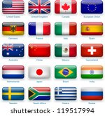 button flags  most popular... | Shutterstock .eps vector #119517994