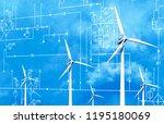 wind energy concept | Shutterstock . vector #1195180069