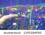 stock market quotes which...   Shutterstock . vector #1195184950