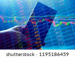 stock market quotes which...   Shutterstock . vector #1195186459
