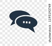 chat vector icon isolated on... | Shutterstock .eps vector #1195193749