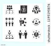simple set of 9 icons related... | Shutterstock . vector #1195195876