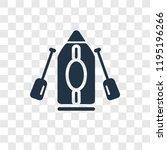 kayak vector icon isolated on...   Shutterstock .eps vector #1195196266