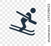 ski vector icon isolated on... | Shutterstock .eps vector #1195198423