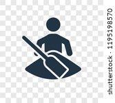 kayak vector icon isolated on...   Shutterstock .eps vector #1195198570
