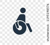 paralympic vector icon isolated ... | Shutterstock .eps vector #1195198576