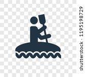 kayak vector icon isolated on...   Shutterstock .eps vector #1195198729