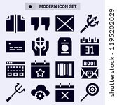 set of 16 template filled icons ...