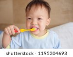 cute smiling little asian 30... | Shutterstock . vector #1195204693