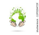 world environment and...   Shutterstock .eps vector #1195204729