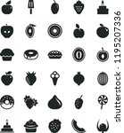 solid black flat icon set...   Shutterstock .eps vector #1195207336