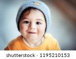 portrait of a cute happy... | Shutterstock . vector #1195210153