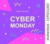 cyber monday sale vector web... | Shutterstock .eps vector #1195211263