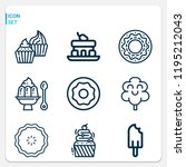 simple set of  9 outline icons...   Shutterstock .eps vector #1195212043