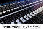 close up of music mixer...   Shutterstock . vector #1195215793