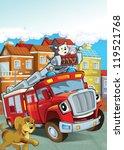 the red firetruck   duty  ...   Shutterstock . vector #119521768