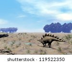 stegosaurus in wild landscape... | Shutterstock . vector #119522350