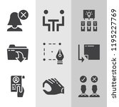 simple collection of business... | Shutterstock . vector #1195227769