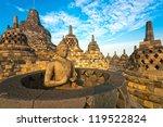 Borobudur Temple At Sunset....