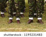 romania military uniform.... | Shutterstock . vector #1195231483
