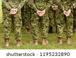 canada military uniform.... | Shutterstock . vector #1195232890