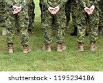 soldiers from the back. troops  ... | Shutterstock . vector #1195234186