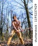 man beaded brutal sexy... | Shutterstock . vector #1195237429
