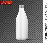 blank milk or juice pack... | Shutterstock .eps vector #1195238143