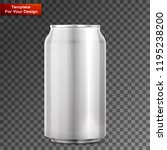 metal aluminum beverage drink... | Shutterstock .eps vector #1195238200
