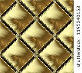 greek gold meander vector 3d... | Shutterstock .eps vector #1195240153