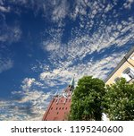 troitskaya tower  trinity tower ... | Shutterstock . vector #1195240600