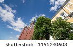 troitskaya tower  trinity tower ... | Shutterstock . vector #1195240603