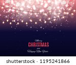 merry christmas and new year... | Shutterstock .eps vector #1195241866
