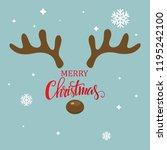 antler christmas card template... | Shutterstock .eps vector #1195242100