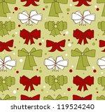 seamless christmas background... | Shutterstock .eps vector #119524240