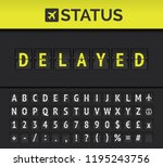 airport analog flip board... | Shutterstock .eps vector #1195243756
