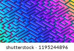 maze pattern abstract... | Shutterstock .eps vector #1195244896
