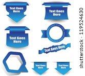 web badge label sticker set | Shutterstock .eps vector #119524630